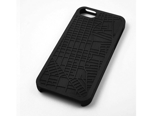 E. Williamsburg/ Bushwick Brooklyn Map iPhone 5/5s in Black Natural Versatile Plastic