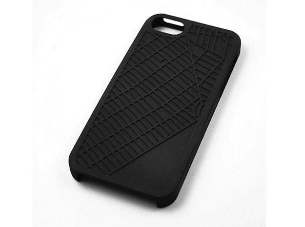 Park Slope Brooklyn Map iPhone 5/5s Case in Black Natural Versatile Plastic
