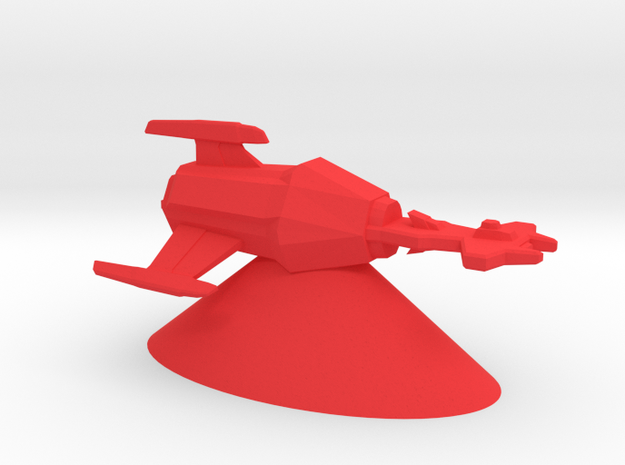 Klingon Empire - Jach'eng in Red Processed Versatile Plastic
