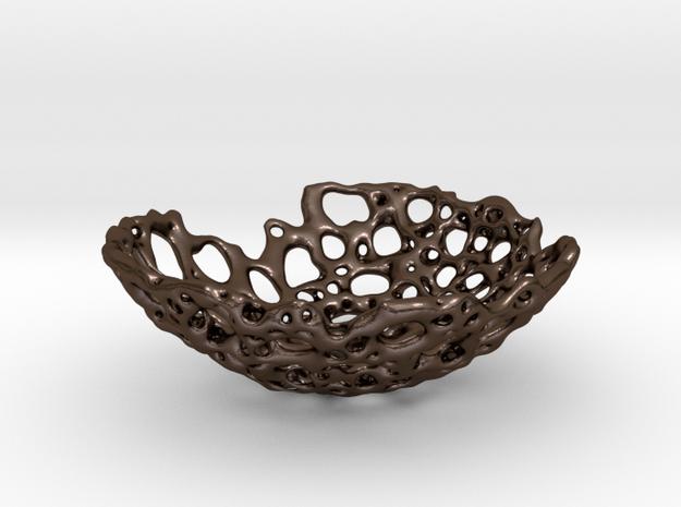 Bone Bowl 15cm in Polished Bronze Steel