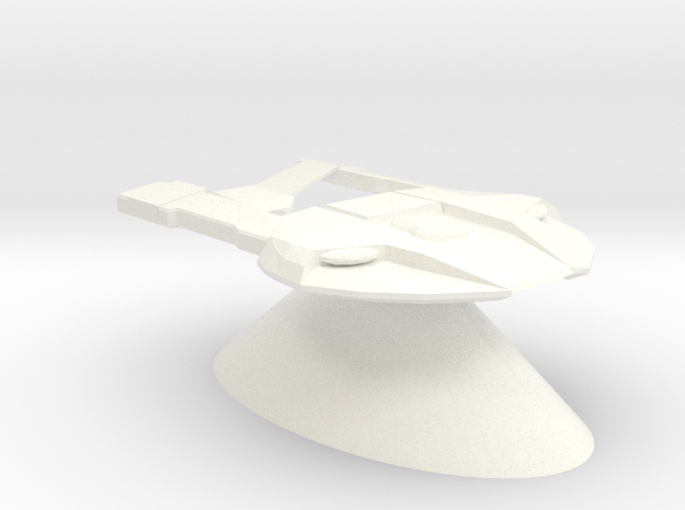 Federation of Planets - Steamrunner in White Processed Versatile Plastic