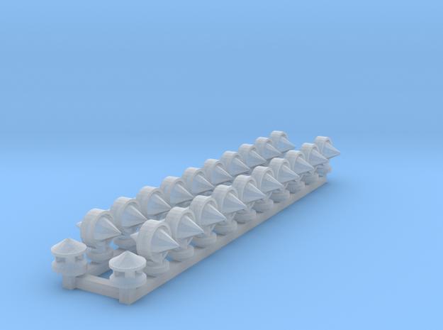 Torpedotuulettimia ja savupiippuja puuvaunuun in Smooth Fine Detail Plastic