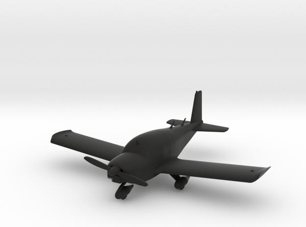 Grumman American AA-1 in Black Natural Versatile Plastic