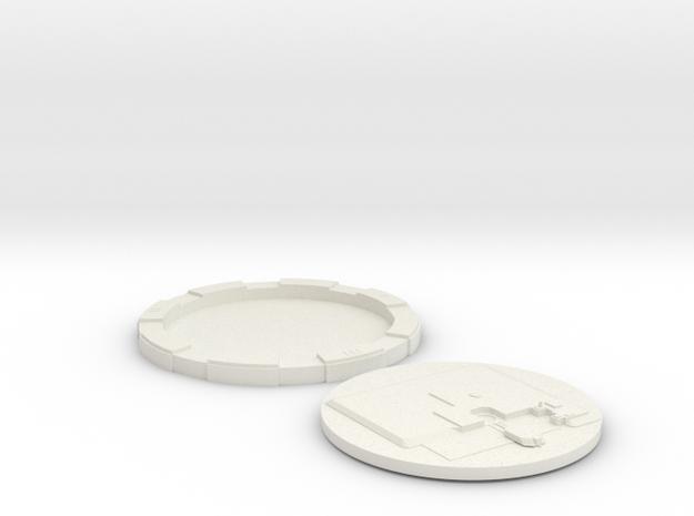"""LGM-30Silo Base 2"""" in White Natural Versatile Plastic"""