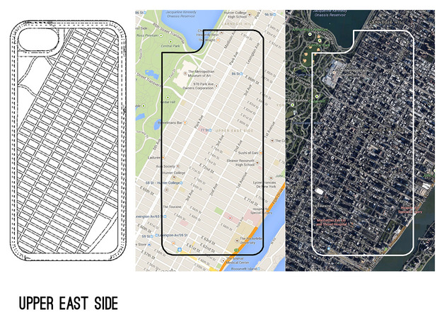 Upper East Side NYC Map iPhone 5/5s Case 3d printed