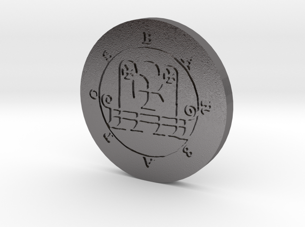 Barbatos Coin in Polished Nickel Steel
