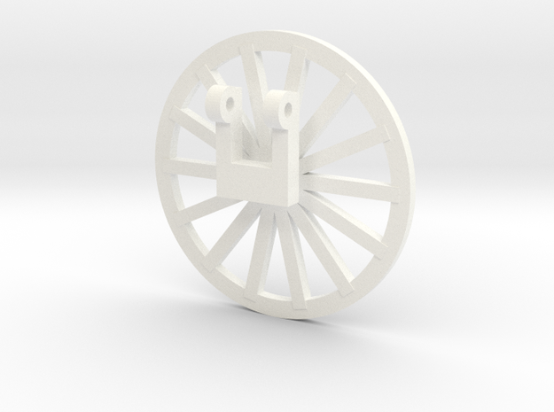 TIle Stringer Wheel in White Processed Versatile Plastic