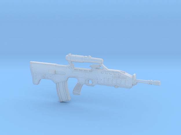 Bullpup rifle 5.56 in 1/6 scale in Smooth Fine Detail Plastic