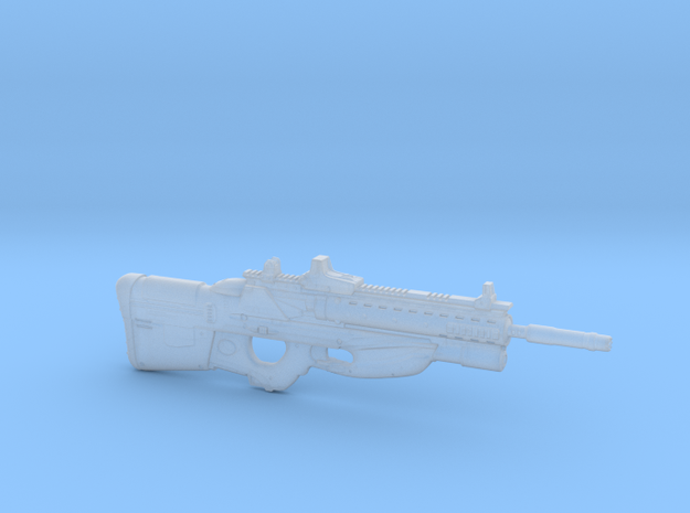 cyberpunk - near future rifle F2076T in 1/6 scale in Smooth Fine Detail Plastic