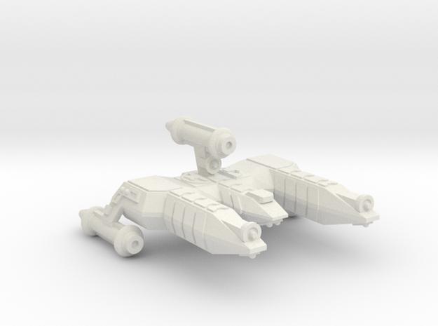 3788 Scale Lyran Refitted War Destroyer Scout CVN in White Natural Versatile Plastic