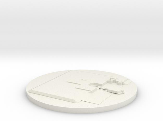 LGM-30 No Base in White Natural Versatile Plastic