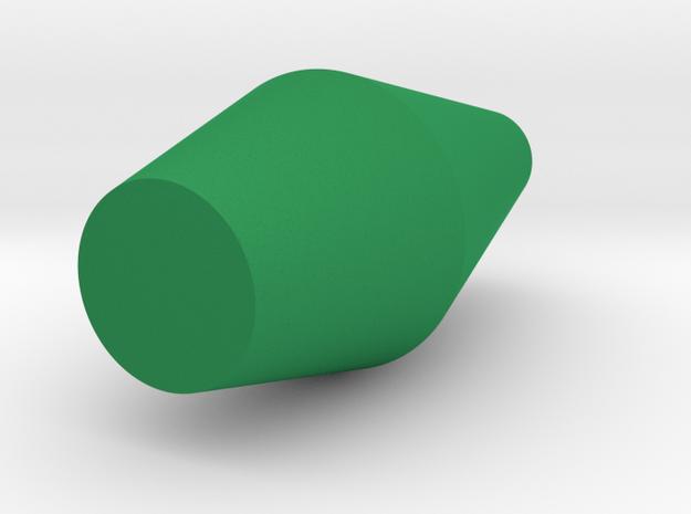 Dual Faceted Cone Vase in Green Processed Versatile Plastic