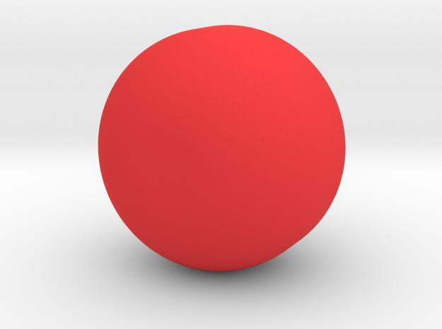 Pomegranate Vase in Red Processed Versatile Plastic