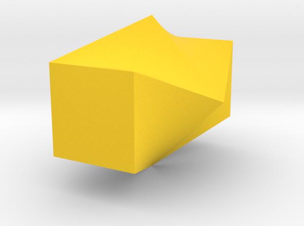 Twisted Square Vase in Yellow Processed Versatile Plastic