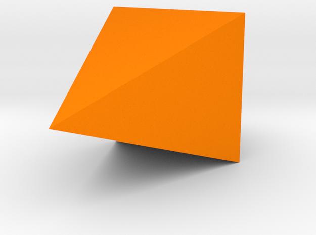 Geometric Hanging Seashell Planter in Orange Processed Versatile Plastic