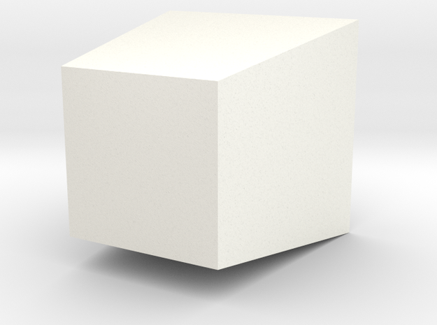 Take-Out Box Planter in White Processed Versatile Plastic