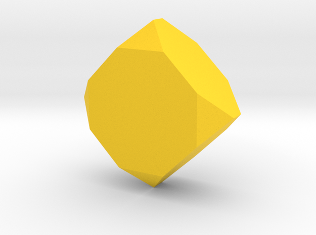 Stubby Faceted Box Planter in Yellow Processed Versatile Plastic