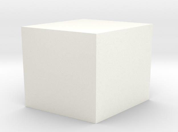 Simple Rhombus Planter in White Processed Versatile Plastic