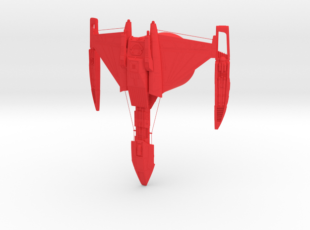 Klingon Empire - D5 Battleship in Red Processed Versatile Plastic