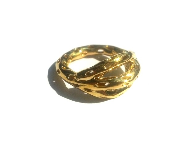 Goldmine Ring in 14k Gold Plated Brass