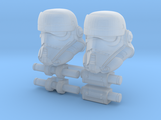 Security Bucketheads (x2) in Smoothest Fine Detail Plastic