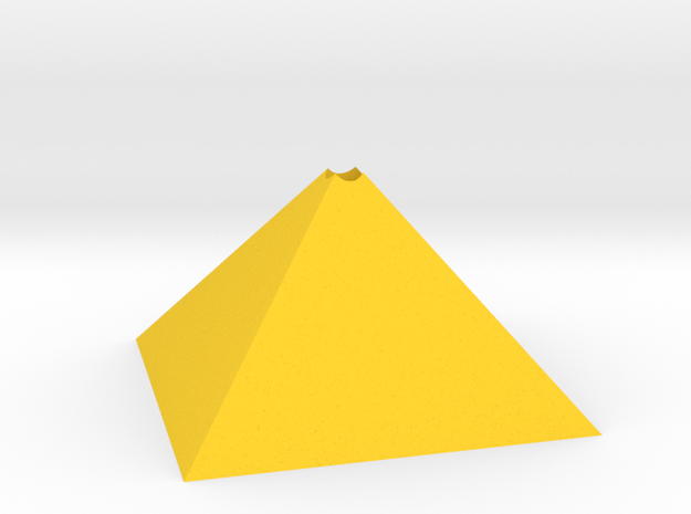 Golden ratio pyramid in Yellow Processed Versatile Plastic