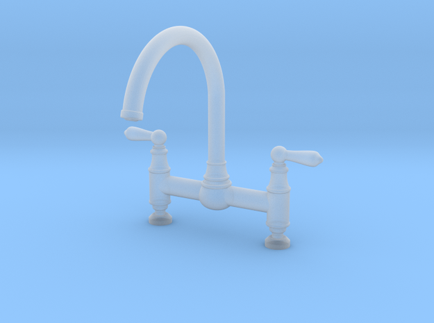 Deco Bridge Faucet  in Smooth Fine Detail Plastic