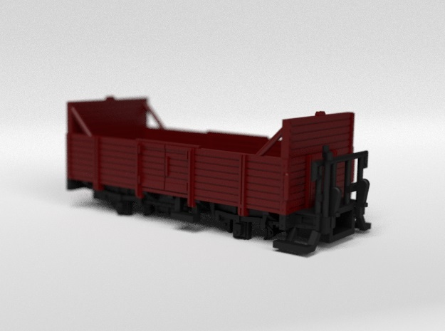 RhB L6007, L6009 Open Freight Wagon in Smooth Fine Detail Plastic