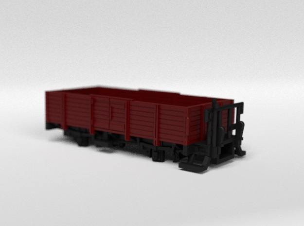 RhB L6001 Open Freight Wagon in Smooth Fine Detail Plastic