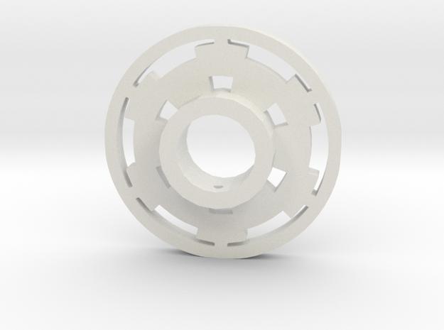 Galactic Empire Lightsaber Tsuba in White Natural Versatile Plastic