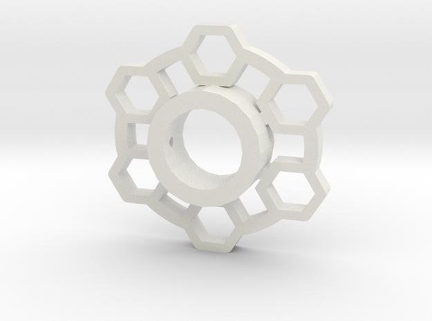 Poly Lightsaber Tsuba in White Natural Versatile Plastic