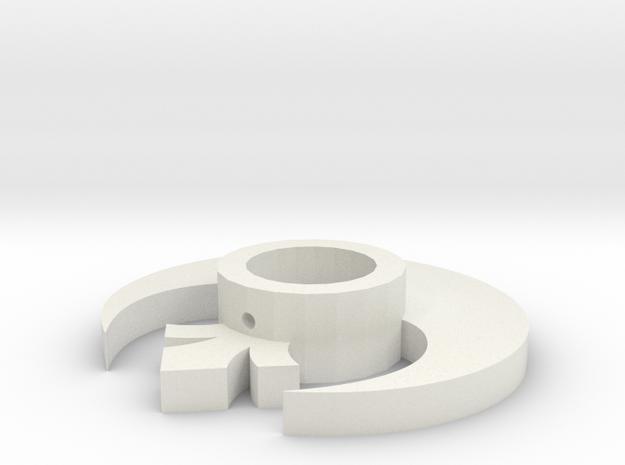 Rebel Symbol Lightsaber Tsuba in White Natural Versatile Plastic