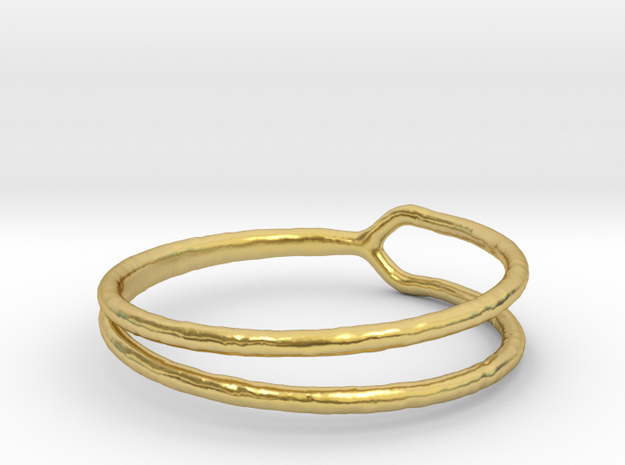 Ring 06 in Polished Brass