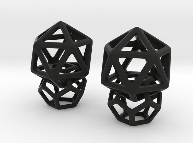 Dangling 12 in Black Natural Versatile Plastic