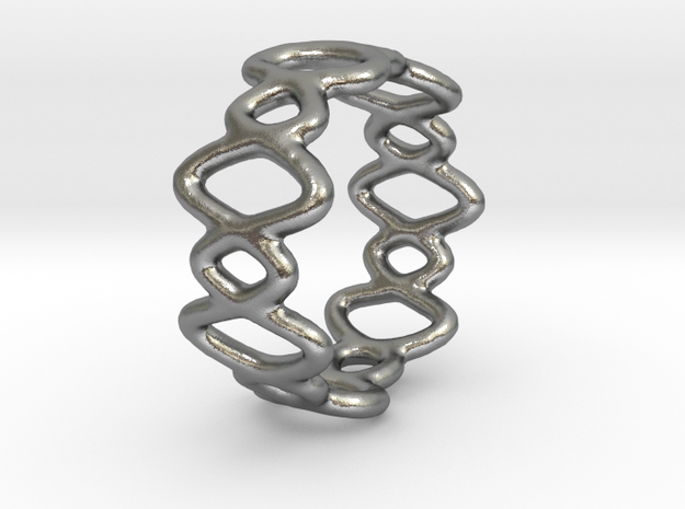 Ring 12 in Natural Silver