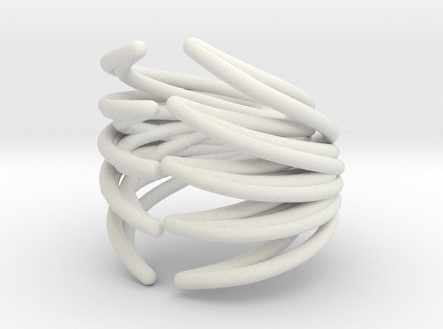 Ryb Ring Smaller Size in White Natural Versatile Plastic
