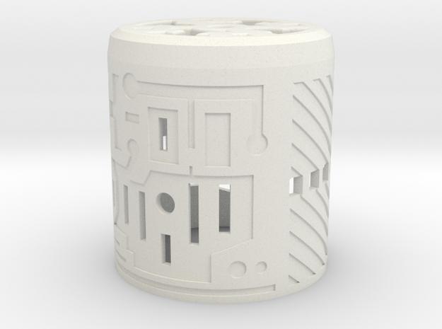 Custom Request - Graflex Knight Var2 Part2 Cover in White Natural Versatile Plastic