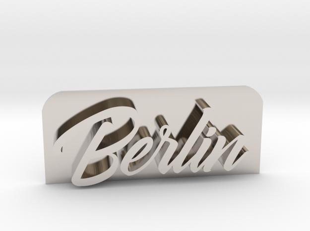 Berlin-GoldfingerKingdom_fixed in Rhodium Plated Brass