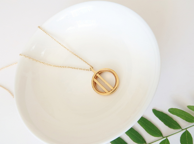 Minimalist in 14k Gold Plated Brass: Small