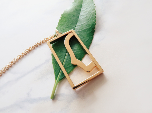 Independent  in 14k Gold Plated Brass: Extra Small