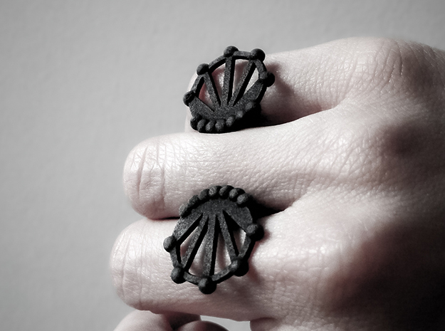 Future Ring in Matte Black Steel: Small