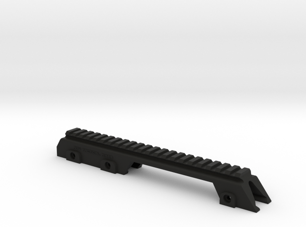 Micro G36 style Rail for picatinny airsoft replica in Black Natural Versatile Plastic
