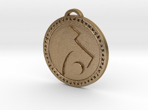 Draenei Faction Medallion (Original) in Polished Gold Steel