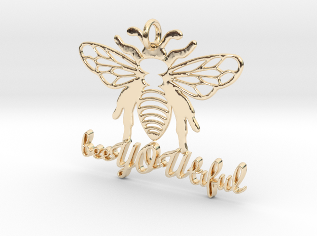 BeeYOUtiful pendant in 14k Gold Plated Brass