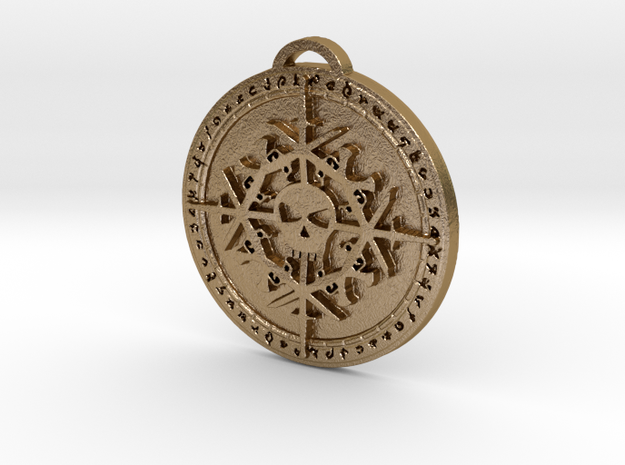 Rogue Class Medallion in Polished Gold Steel
