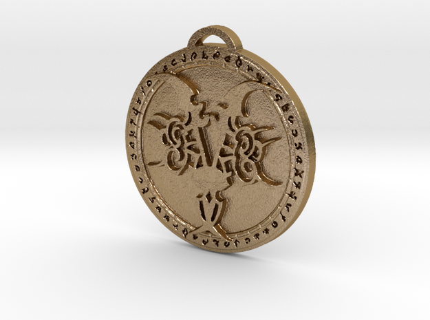 Demon Hunter Class Medallion in Polished Gold Steel