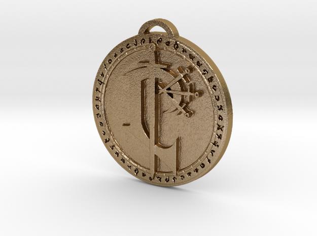 Scarlet Crusade Faction Medallion (Banner) in Polished Gold Steel