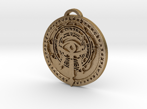 Mage Class Medallion in Polished Gold Steel