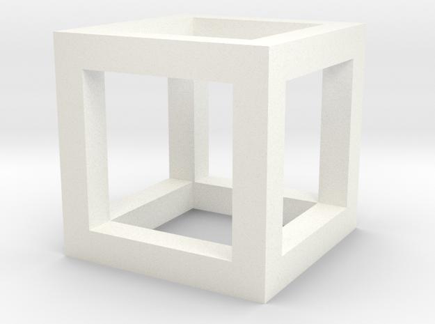 hyper cube in White Processed Versatile Plastic