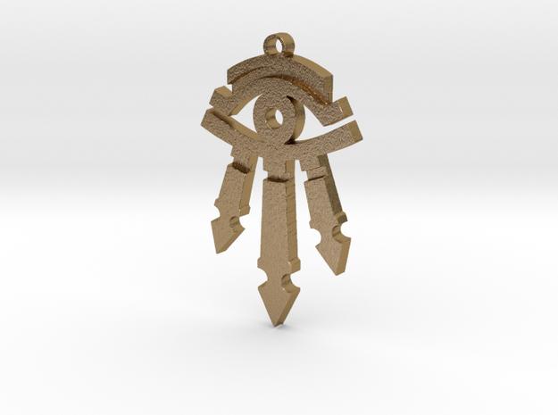 Kirin Tor Eye Pendant in Polished Gold Steel